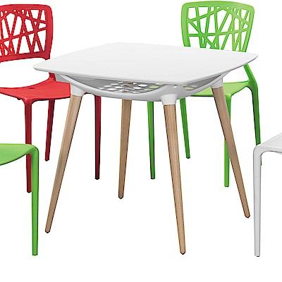 H&D 德尼亞白色造型桌 (寬80X深80X高72cm)