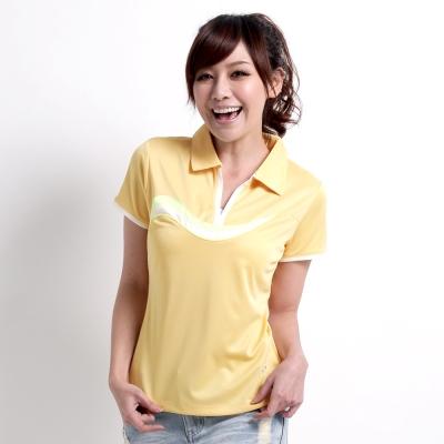 【遊遍天下】女款抗UV吸濕排汗機能POLO衫NS013黃