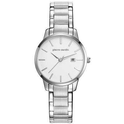 pierre cardin皮爾卡登 極度品味時尚錶-銀x小/30mm