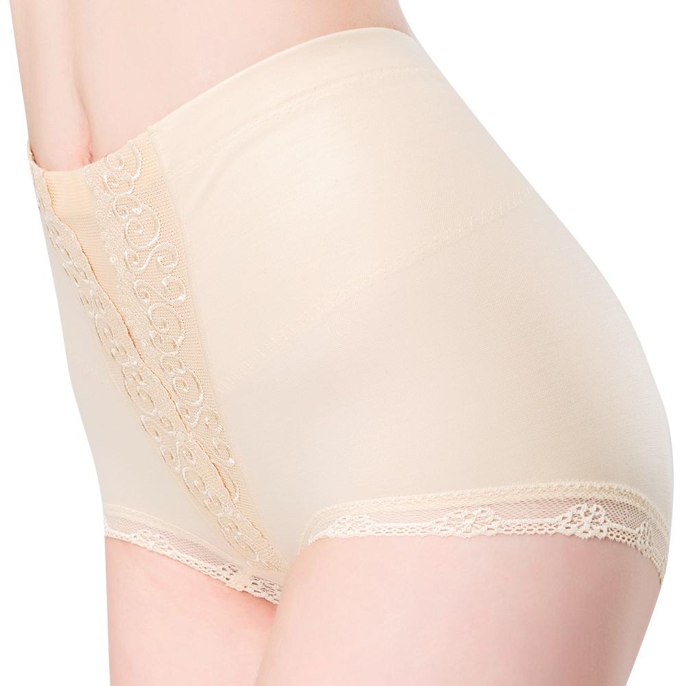 思薇爾 輕機能棉質64-82高腰平口束褲(榛果膚)