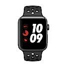 [無卡分期-12期] Apple Watch Nike+行動網路,42mm 灰鋁配黑色錶帶