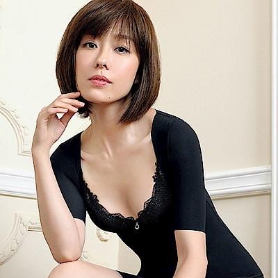 顏Audrey-魔塑3D纖体 掰掰袖胸托塑身衣(神秘黑)