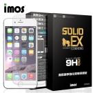 iMOS iphone 6 plus / 6s plus (白邊)3D滿版康寧保護貼+銀金屬環