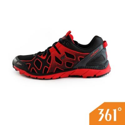 361男運動常規登山鞋-黑-紅