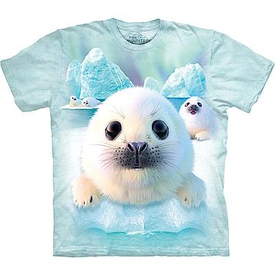摩達客 美國進口The Mountain 雪球小海豹 純棉環保短袖T恤