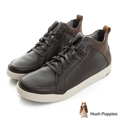 Hush Puppies LIVELY 綁帶休閒踝鞋-咖啡色