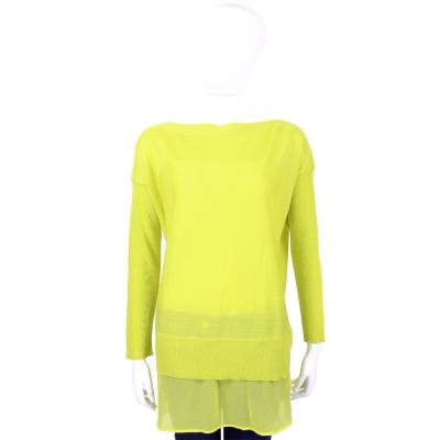 PHILOSOPHY 黃色羊毛拼接設計薄針織上衣