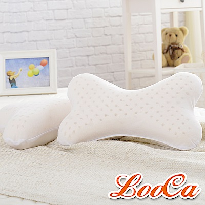 LooCa 狗骨頭萬用乳膠枕 2入