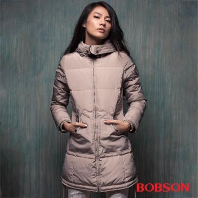 BOBSON 女款長版羽絨外套