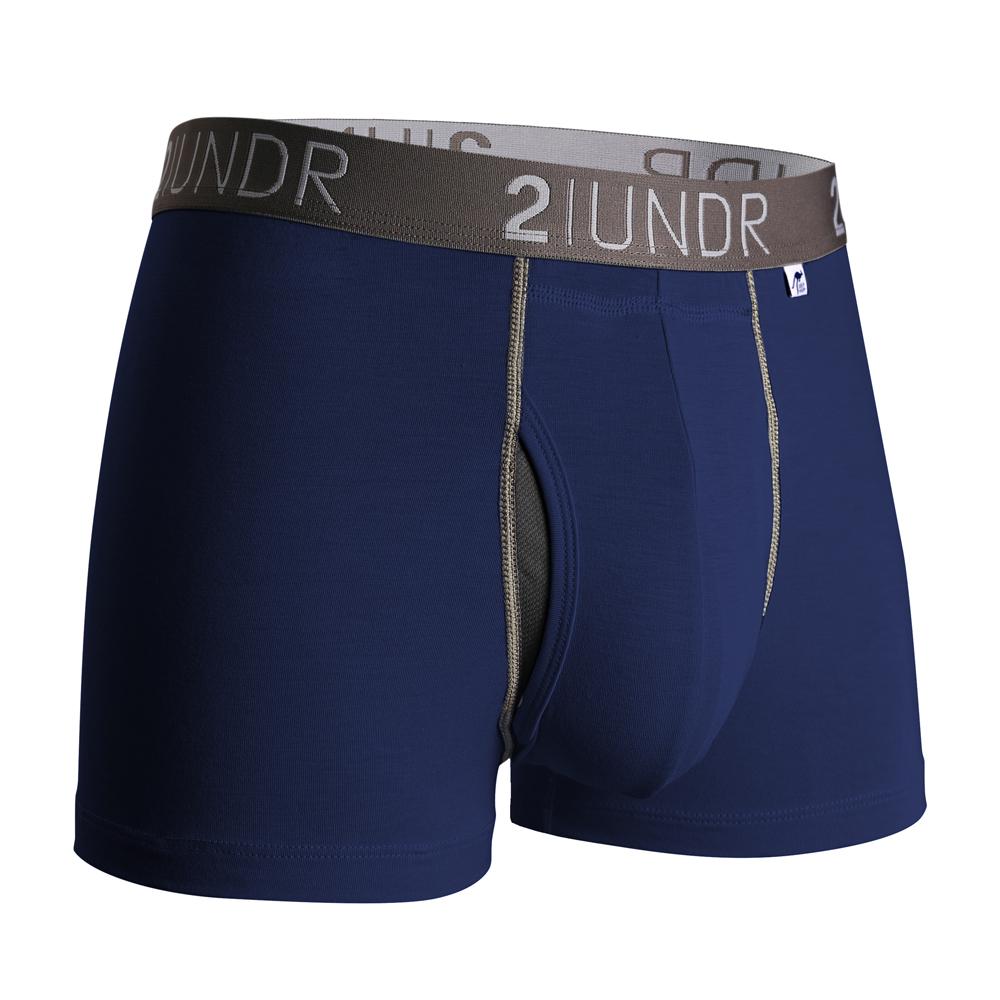 2UNDR Swing Shift 莫代爾吸排四角內褲(3吋)-海軍藍