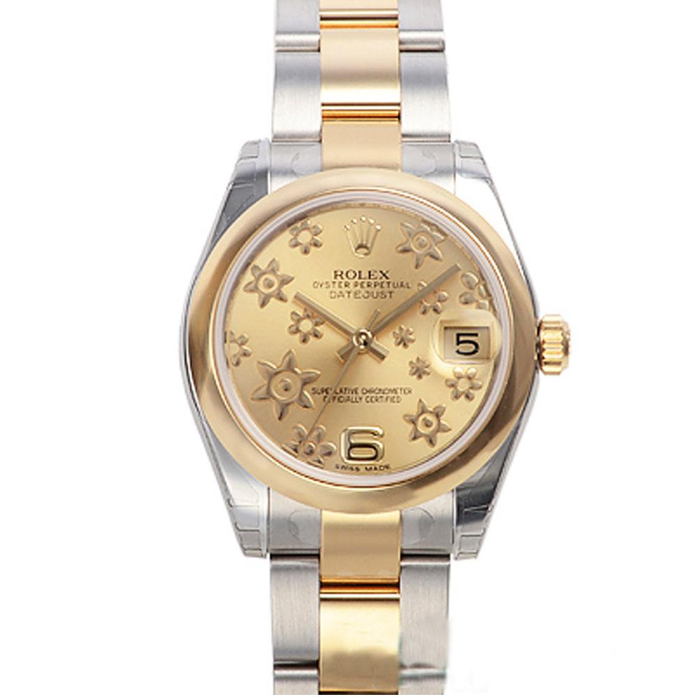 ROLEX 勞力士 Datejust 178243 稀有立體金色小花腕錶-31mm