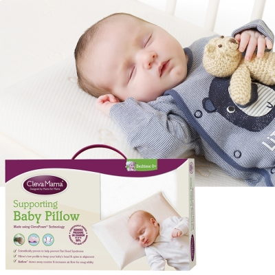 ClevaMama 防扁頭嬰兒枕(含膚色枕套)