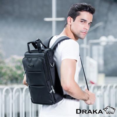 DRAKA 達卡-3WAY三拉防潑水後背包-黑