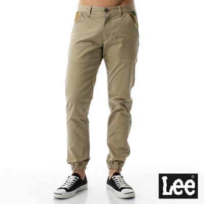 Lee迷彩口袋印花束口休閒褲/UR-男款-卡其色