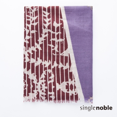 獨身貴族 琉璃時光土耳其幾何花紋設計披巾(1色)