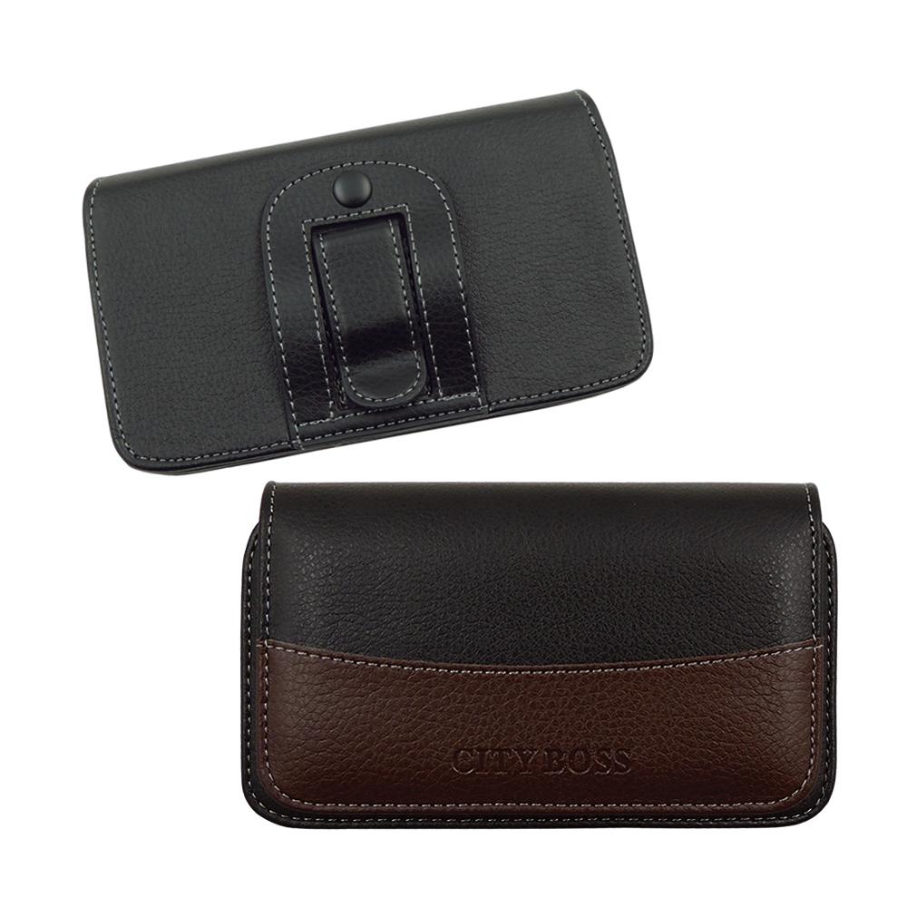 City boss Samsung Note2/N7000等時尚皮革橫式腰掛保護套