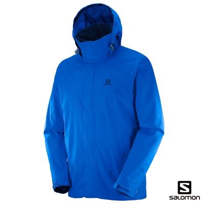 Salomon 防水防風連帽外套 男 ELEMENTAL 藍
