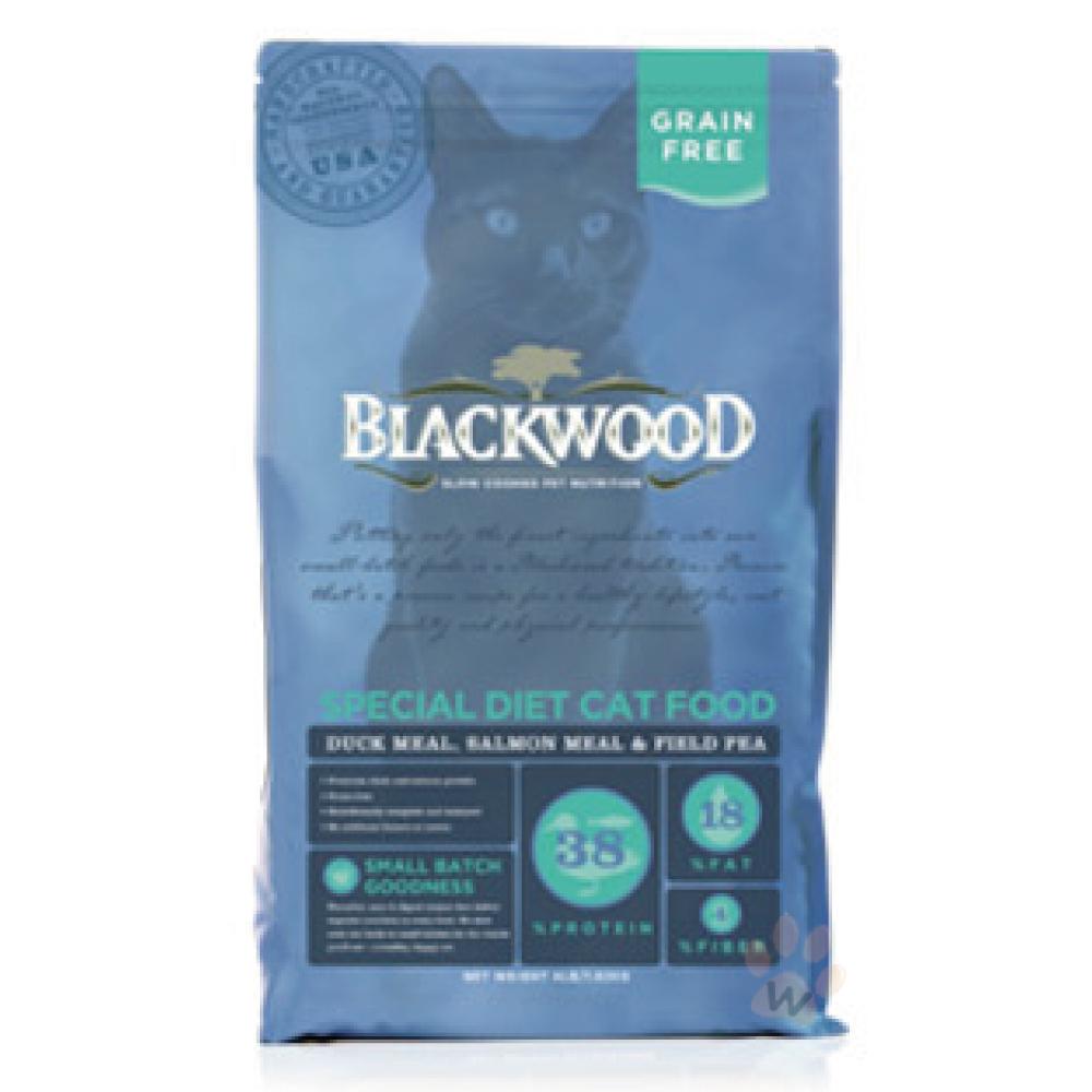 BLACKWOOD柏萊富-特調無穀全齡貓 配方(鴨肉+鮭魚+豌豆)4磅