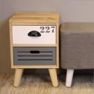 Asllie然木二抽收納櫃/邊櫃/床頭櫃/電話櫃-30x30x44.5cm