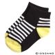 GIORDANO童裝條紋撞色短襪- 09 黃