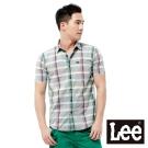Lee 短袖襯衫 條紋格紋色塊-男款(灰)