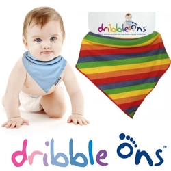 Dribble ons 嬰兒領巾造型圍兜口水巾-彩虹款