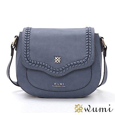 WuMi 無米 蜜琪法式甜美mini馬鞍包 粉臘藍
