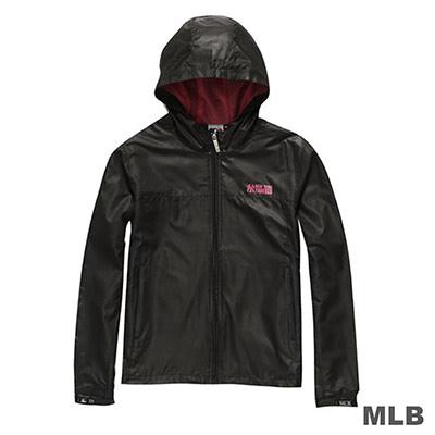 MLB-紐約洋基隊連帽風衣外套-黑 (女)