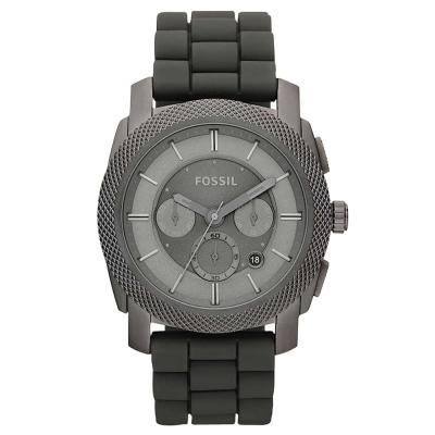 FOSSIL 絕讚霸氣視覺三眼計時腕錶(灰) /45mm