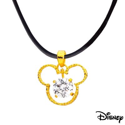 Disney迪士尼金飾 喜心米奇黃金墜子 送項鍊