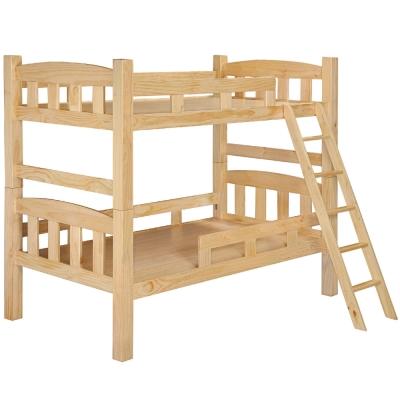 品家居 凱新3.5尺原木色單人雙層床架(不含床墊)