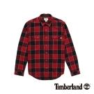 Timberland 男款紅色格紋休閒長袖襯衫