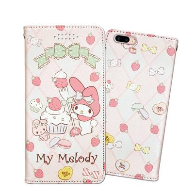 三麗鷗授權 My Melody 美樂蒂 OPPO R11 甜心彩繪磁扣皮套(草莓...