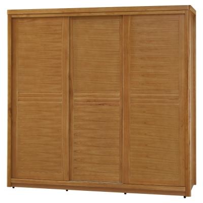 品家居 克莉絲蒂7x7尺實木推門衣櫃