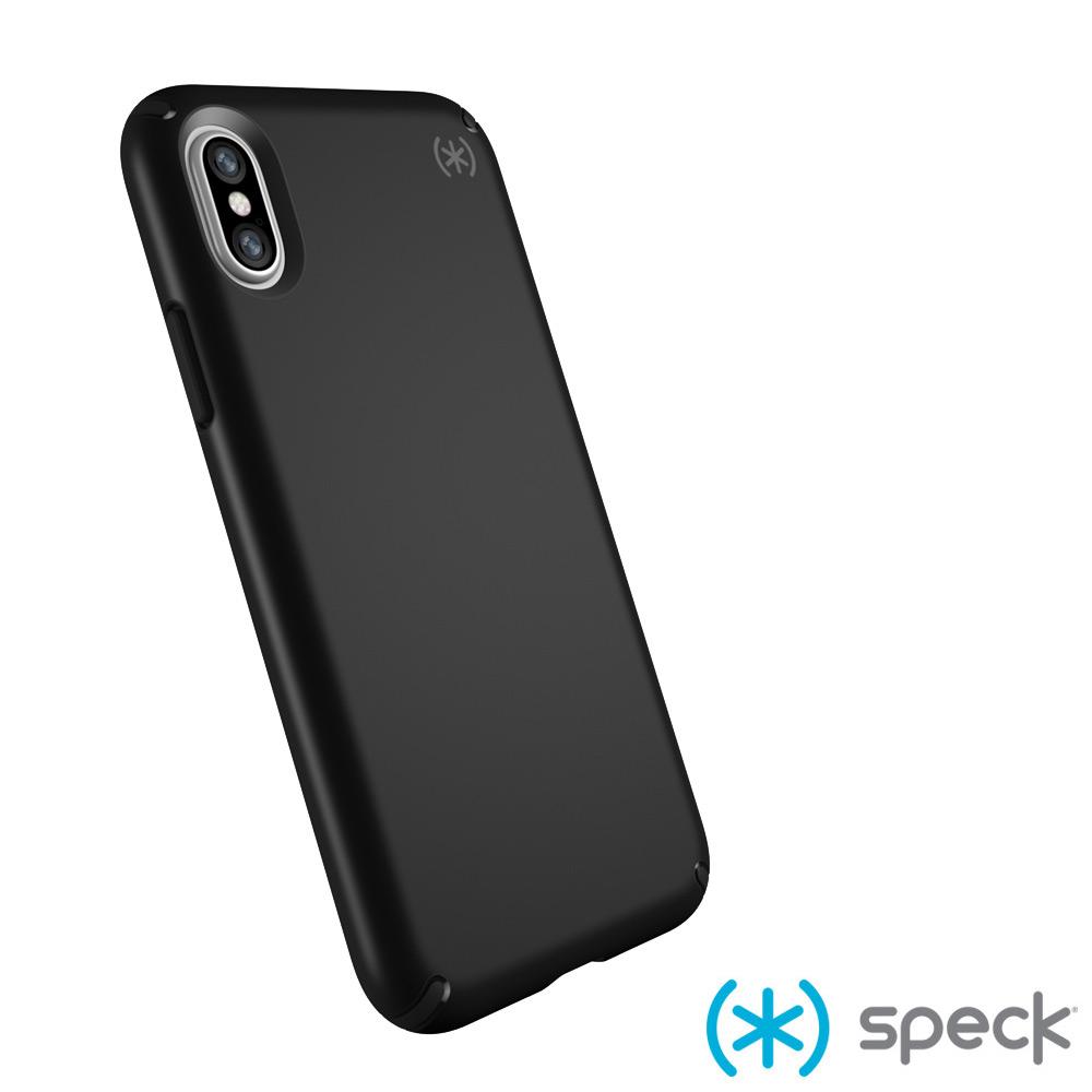 Speck Presidio iPhone X 纖薄防摔保護殼-霧面黑色