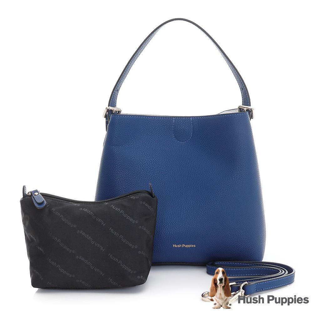Hush Puppies PANSY 雙面兩用淑女肩背包-藍/白