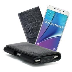 X mart 三星 Galaxy Note5 /Note4 /J7 麗緻真皮腰掛皮套