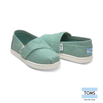 TOMS 經典綿麻織紋懶人鞋-幼童款