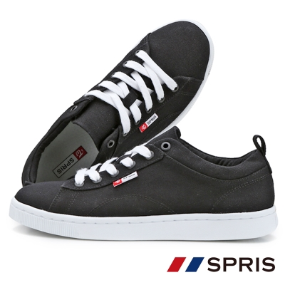 周子瑜TWICEx韓國SPRIS 聯名鞋款 TEENS 綁帶帆布鞋系列-黑