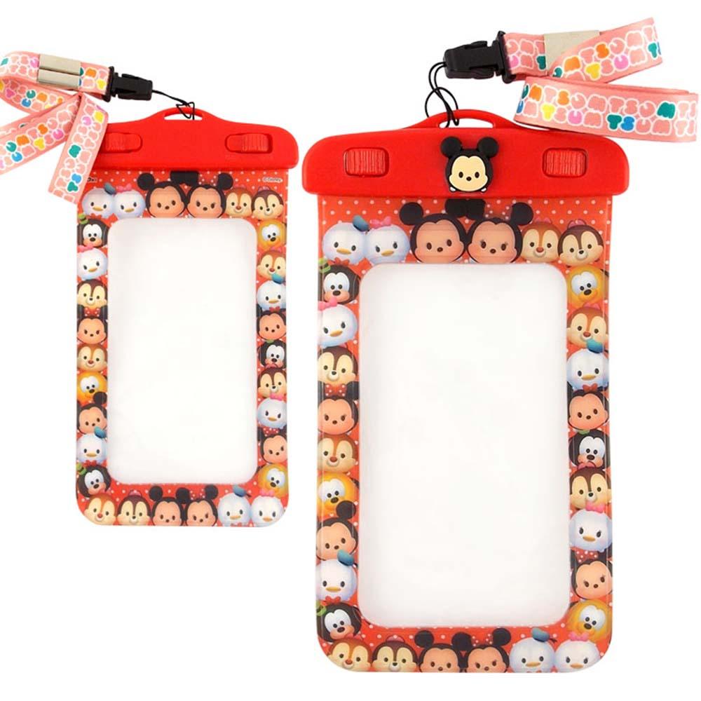 Disney迪士尼TSUM TSUM 5吋通用可愛繽紛手機防水袋-米奇大集合