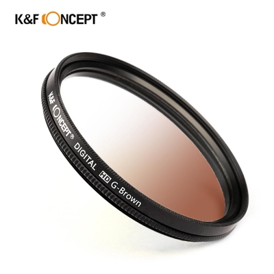 K&F Concept 超薄無暗角清晰漸變圓形濾鏡 咖啡色
