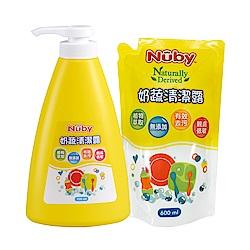 Nuby 奶蔬清潔露組合包_1罐700ml+1包600ml