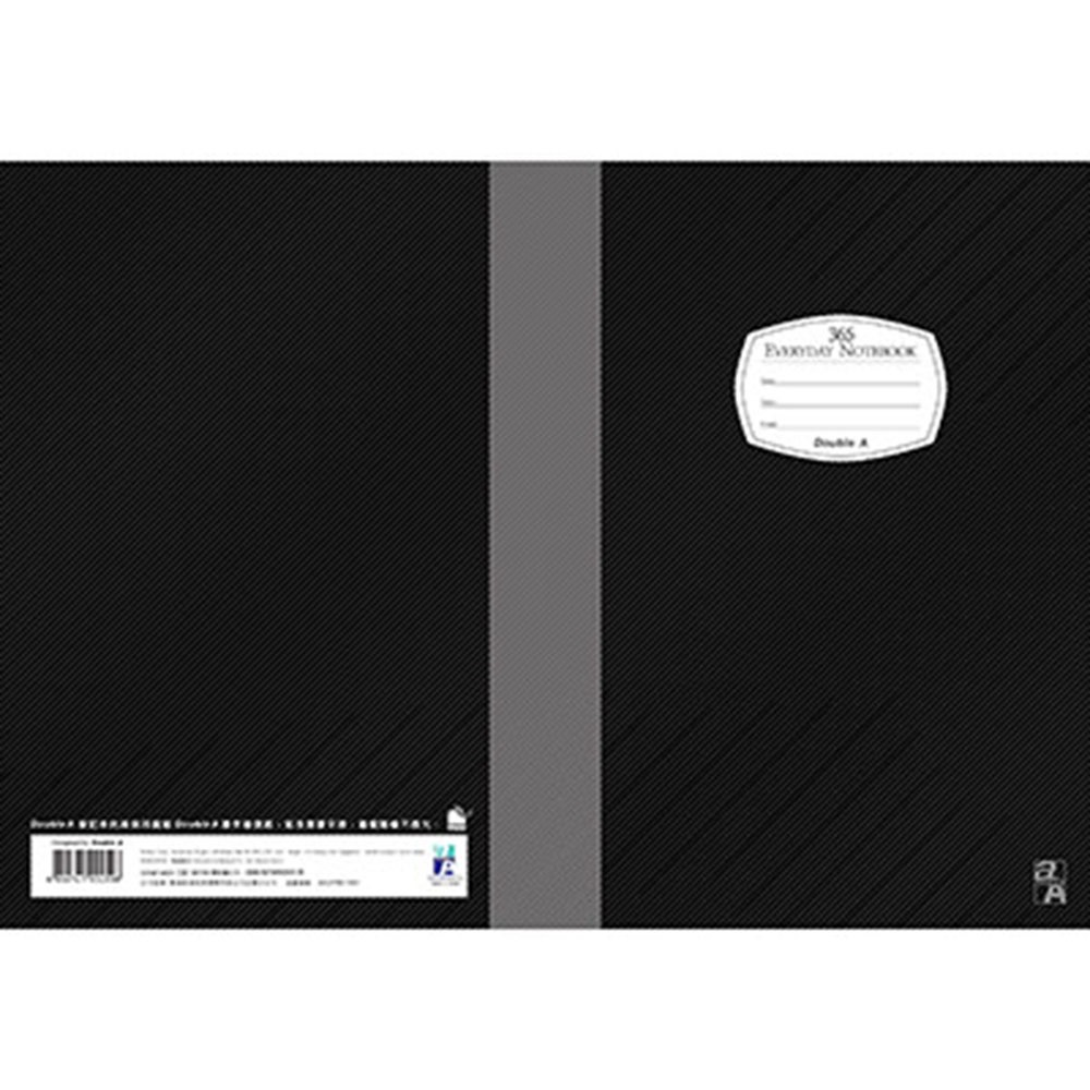 Double A B5/18K膠裝筆記本-黑 (DANB14006)每日經典系列10本 @ Y!購物