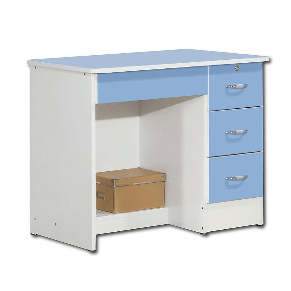 【簡約風】夢想淺藍3尺書桌-91*54*73cm