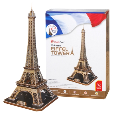 Cubic Fun 智慧3D立體拼圖『艾菲爾鐵塔-硬盒精裝版』(82片)