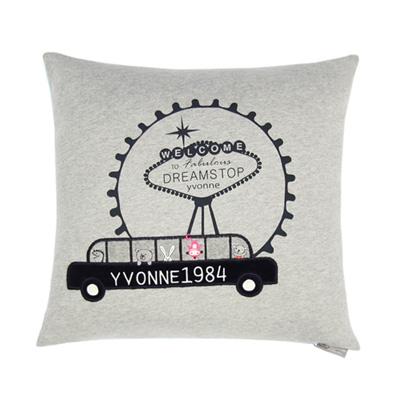 Yvonne-VEGAS45x45cm方形抱枕-灰