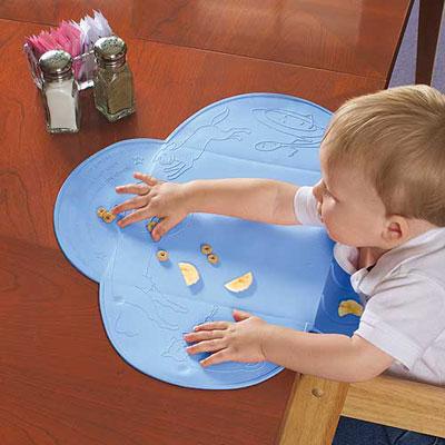 美國 Summer Infant 可攜式防水學習餐墊-粉藍