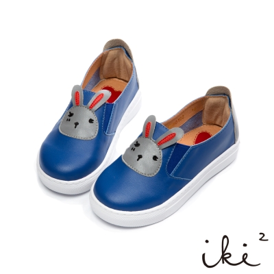 iki2 童鞋 咕妮兔繽紛派對撞色懶人鞋-藍