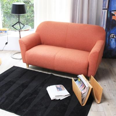 H&D 日系質感雙人扶手布沙發-三色可選