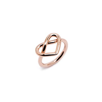 CK Calvin Klein 甜美愛心款戒指-玫瑰金色